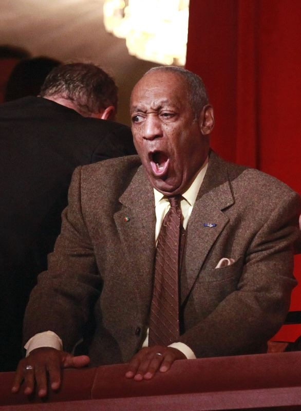 Actor Bill Cosby makes faces in the Kennedy Center before receiving the Mark Twain Prize for American Humor in Washington, D.C. on Monday.