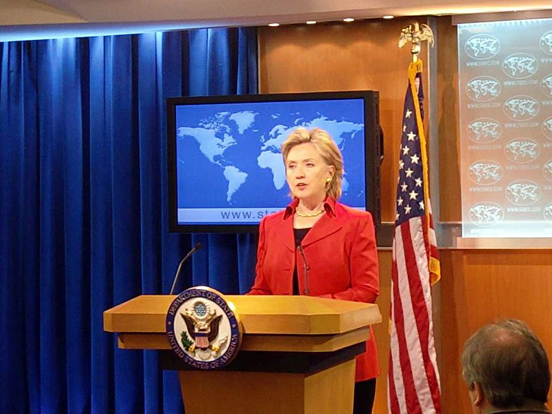 U.S. Secretary of State Hillary Rodham Clinton makes remarks as she releases the U.S. State Department's Annual Report on International Religious Free...