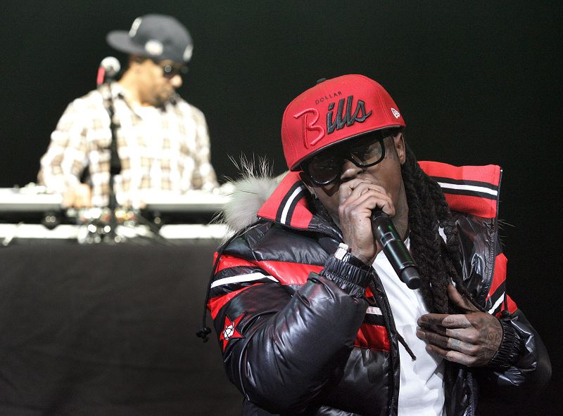 Lil Wayne performs in New Orleans, Louisiana on Monday. The performer, whose real name is Duane Carter, pleaded guilty in October to a weapons possess...