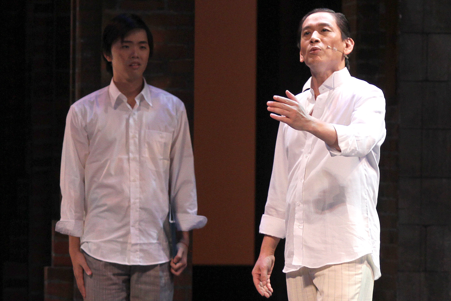 """Performers rehearse """"The Impossible Time"""", which will be staged from September 10 to 12 at the National Theater in Taipei."""