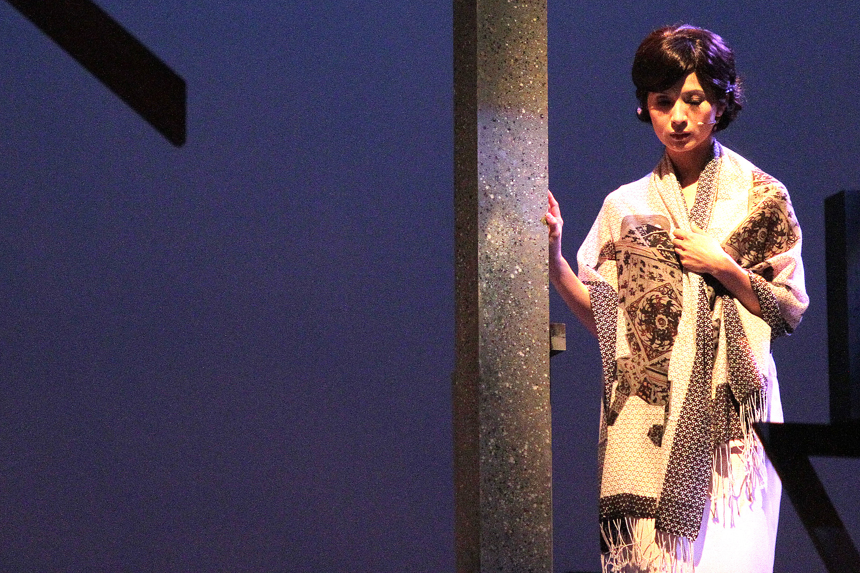 """A performer rehearses """"The Impossible Time"""", which will be staged from September 10 to 12 at the National Theater in Taipei."""