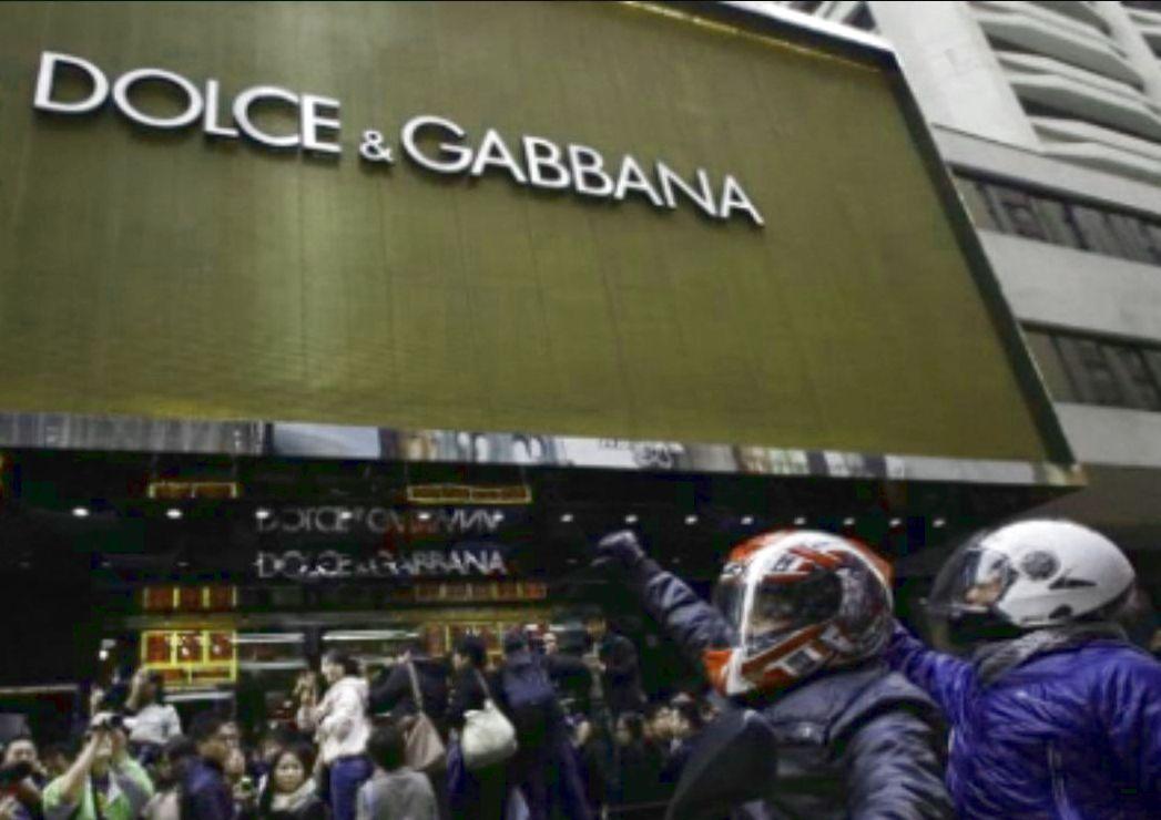 義大利精品DOLCE & GABBANA在中國大陸的門市。