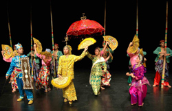 """The MSU-IIT Kalimulan Cultural Dance Troupe from Marawi, Lanao del Sur, presents the """"Singkil,"""" also known as the Princess Dance or Royal Maranao Fan ..."""