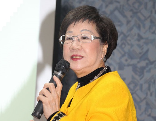 Annette Lu asserts sovereignty, calls for peace in Tiaoyutai