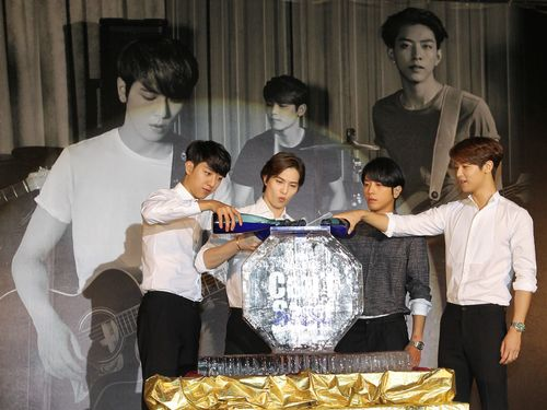 South Korean rock band CNBLUE rocked thousands of fans in Taiwan during their Saturday concert at the Taipei World Trade Center Nangang Exhibition Ha...