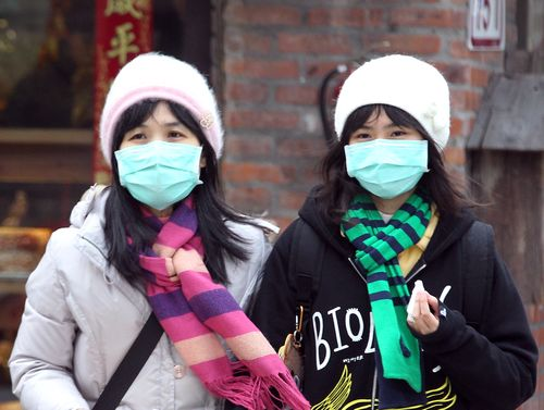 The western half of Taiwan was suffering Monday under a haze of concentrated air pollutants riding the cold air mass that has moved in from China, acc...