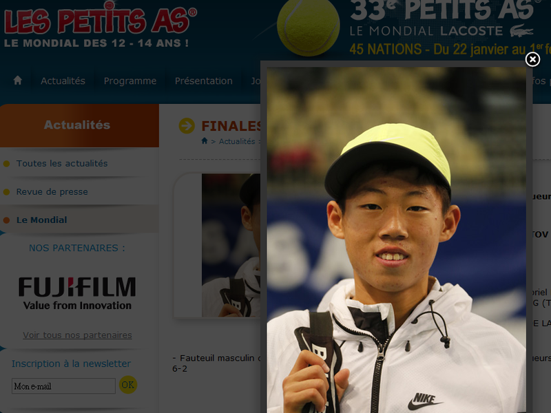 Taiwan's Tseng Chun-hsin came out on top of the prestigious Petits As de Tarbes in France Sunday, becoming the first Asian to win the title in its 33-...