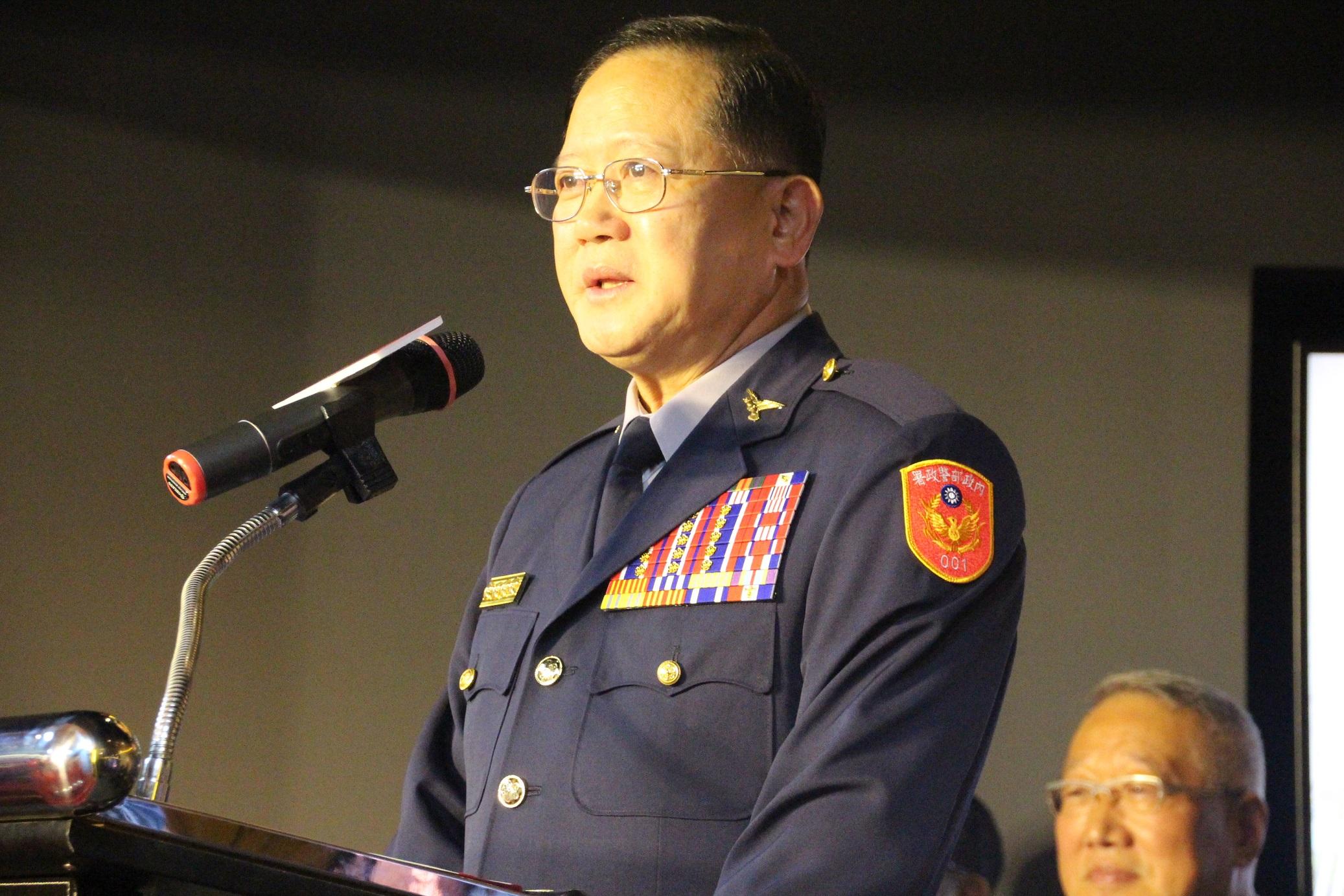 (資料照片:圖為警政署長陳國恩2015年11月出席警察史蹟館的演講畫面)