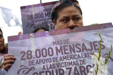 瓜地馬拉1960-1996年長達36年的內戰期間,有多達10萬名婦女在軍中被強暴,多數是原住民瑪雅凱克奇族人(Mayan Q'eqchi'