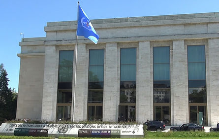 The photo shows the office building of the World Health Organization (WHO) in Europe.