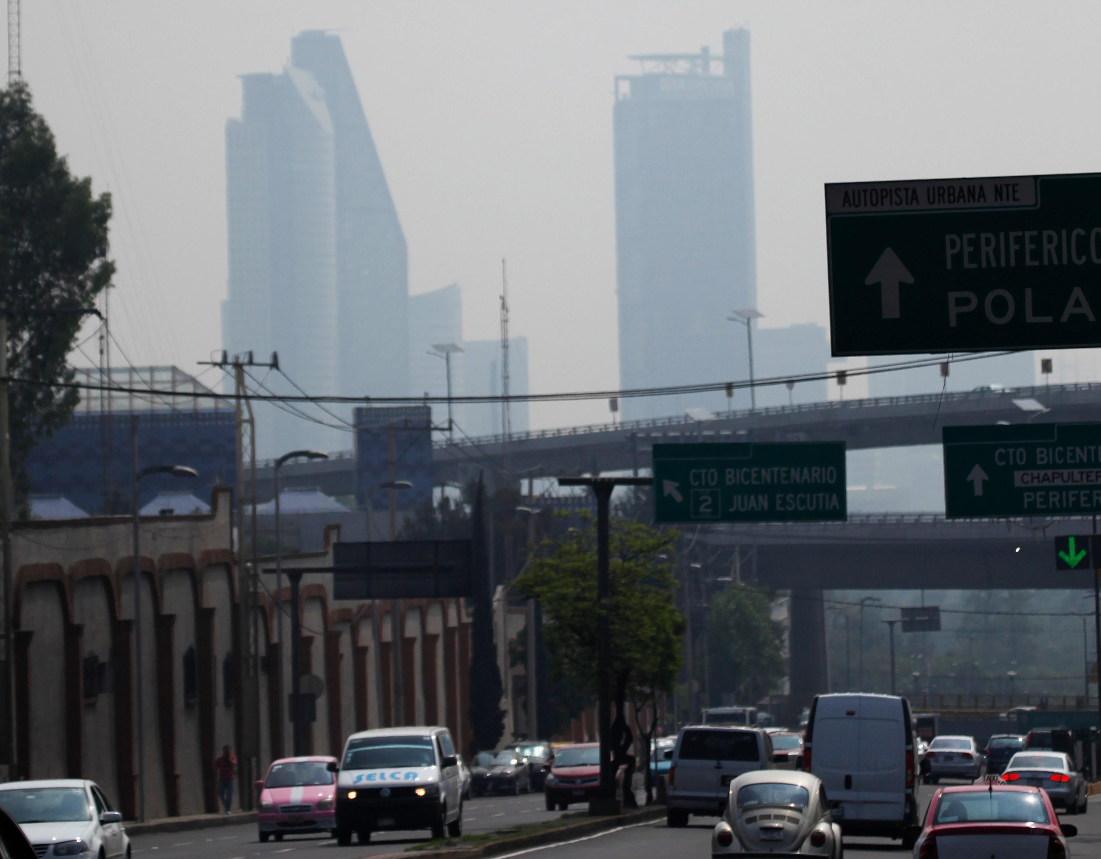圖為墨西哥城市的空污問題。