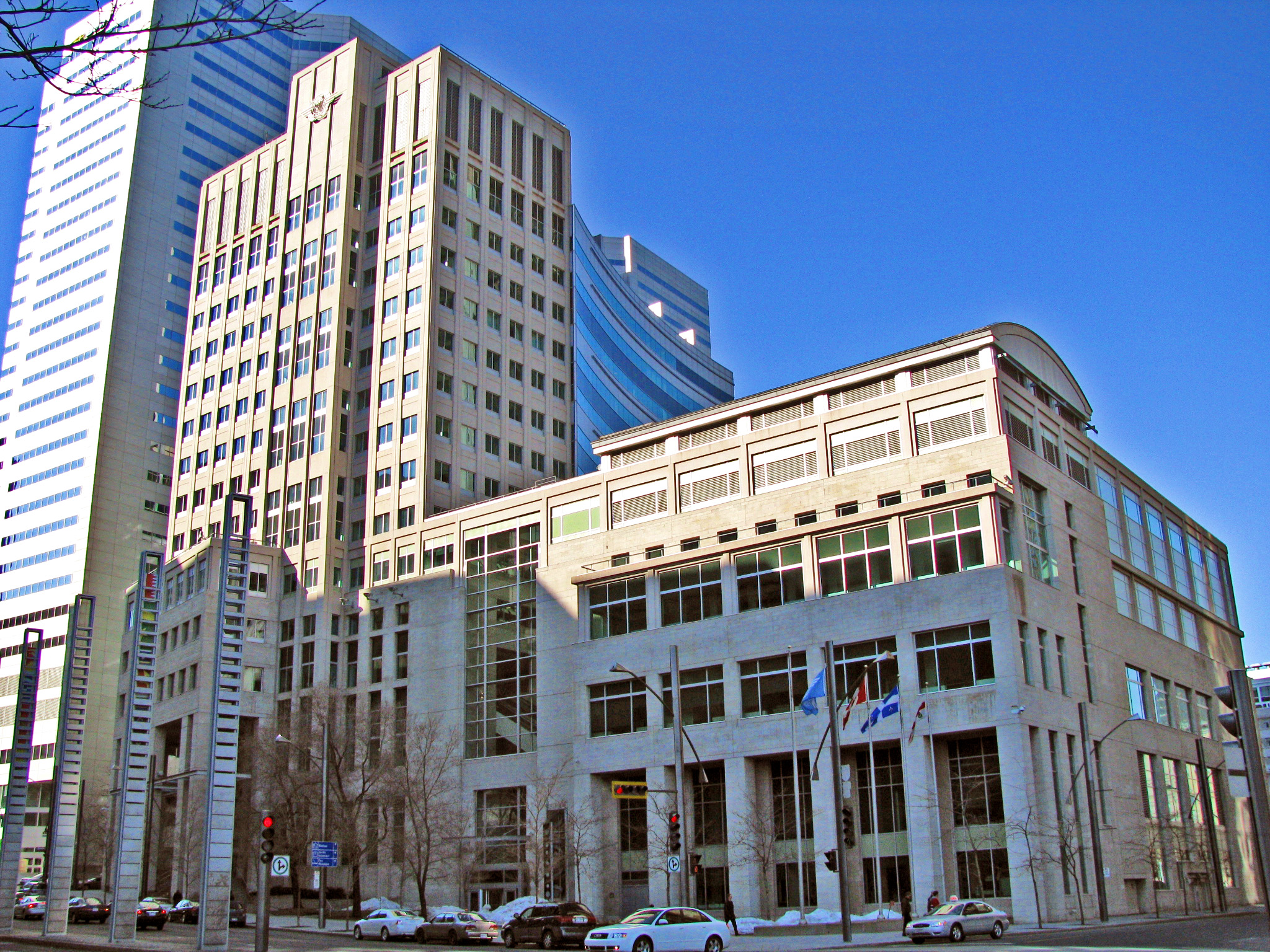 The photo shows ICAO headquarters in Montreal Canada. (Photo courtesy of wikipedia)