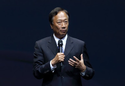 The photo shows Hon Hai Precision Industry Co. Chairman Terry Gou.