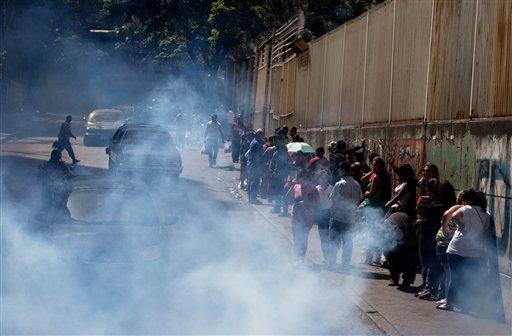 圖為委內瑞拉正在噴灑殺害埃及斑蚊藥物的街道上,埃及斑蚊是傳播茲卡病毒的一種病媒蚊。