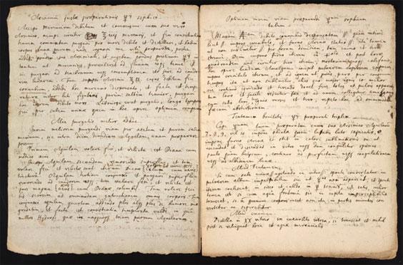 牛頓的鍊金術草稿曝光,透露「賢者之石」(Philosopher's stone)的製作方法。