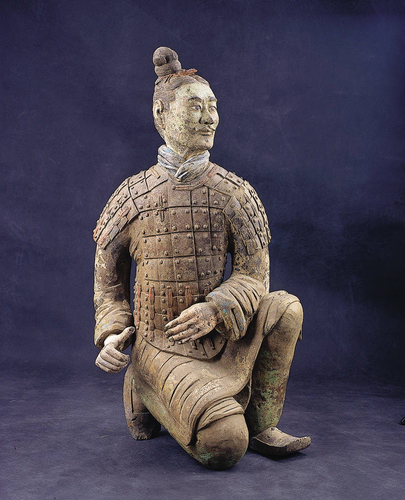 The Terra Cotta Army of Chin Shi Huang Ti, the first emperor of China, is currently on display at the National Museum of Natural Science in Taichung.