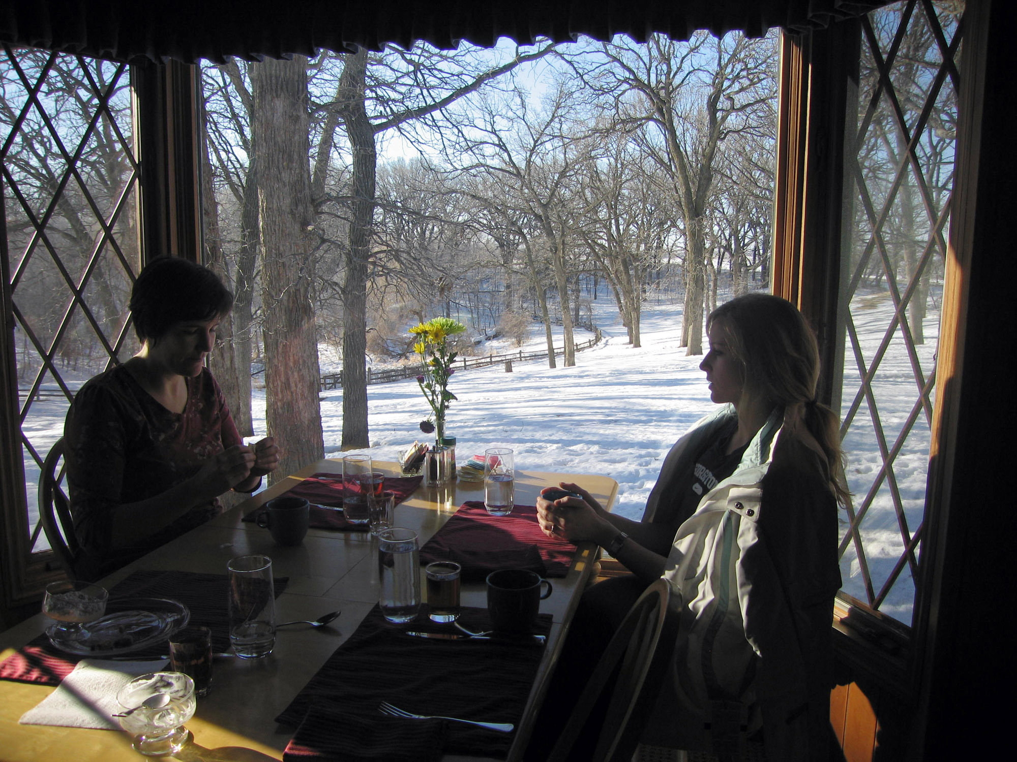 Above and lower: Birdwing Spa near Litchfield, Minnesota helps visitors both embrace winter and melt away any chill.
