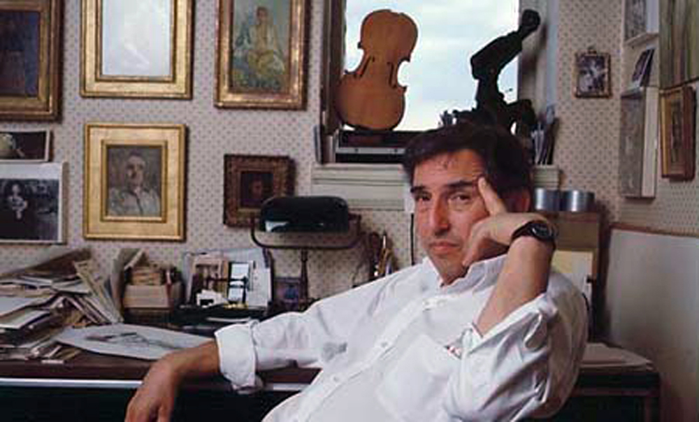 In this undated photo made available from dlevineink.com, David Levine is shown. Levine, an artist whose witty caricatures illustrated The New York Re...