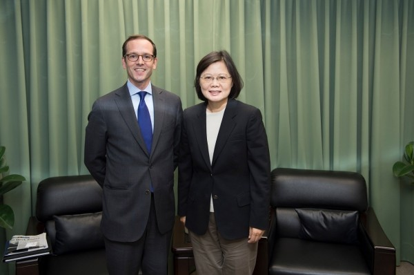 Medeiros praised Tsai's status quo speech as constructive, which she delivered at the CSIS in June, during her visit to Washington, D.C.(Image courtes...