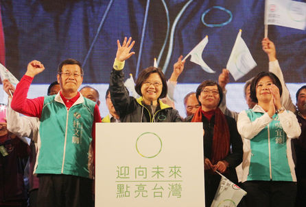 Tsai pledges to revive development and growth in Miaoli