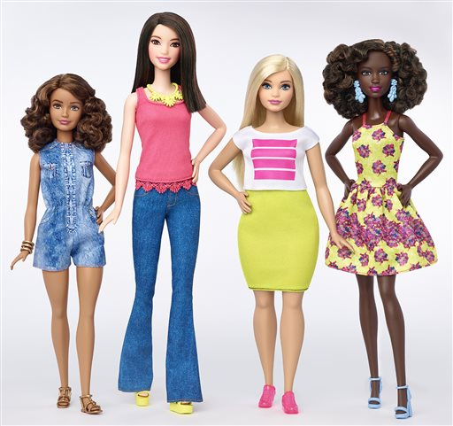 The new line of Barbie dolls will come with three new body types – curvy, tall, and petite, following the line that comes in with varying skin tone in...
