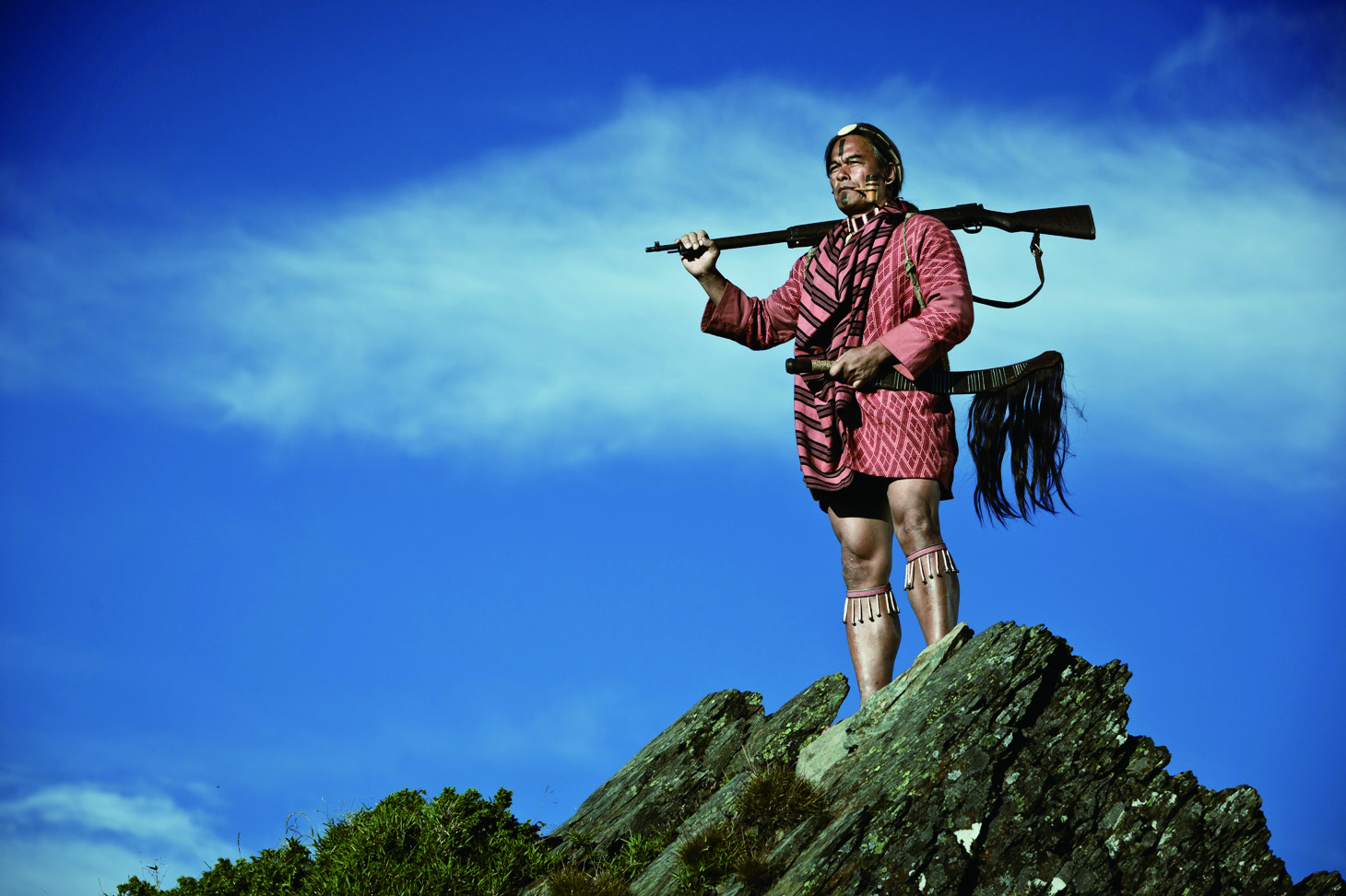 """Indigenous actor Lin Ching-tai plays middle-aged Mona Rudao in the film """"Warriors of the Rainbow: Seediq Bale."""""""