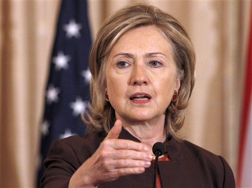 Secretary of State Hillary Rodham Clinton speaks at the State Department in Washington, D.C. on Oct. 7 during the launch of the GSMA mWomen Program, t...