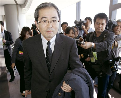Japanese Ambassador to Russia Masaharu Kono arrives at Narita airport, near Tokyo, Japan today. Japan temporarily recalled its ambassador from Moscow ...