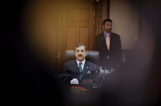 In this photo taken on Dec. 18, Pakistani Prime Minister Yousuf Raza Gilani pauses during a meeting with the Pakistani National Disaster Management Au...
