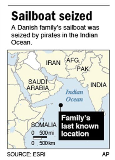 Map shows last known location of family