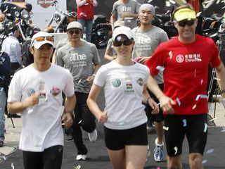 Kaohsiung City: Taiwanese marathoner vows to complete Silk Road race