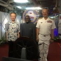 Solomon Islands Premier boards Taiwan Navy ship