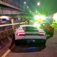 Taiwanese BMW driver crashes into Lamborghini and Ferrari