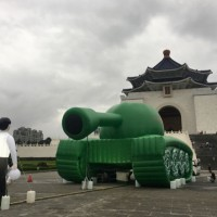 Photo of the Day: Inflatable 'tank man' pops up in Taipei