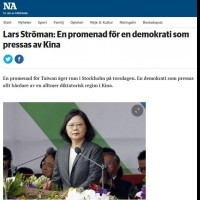 China cries foul after Sweden's NA refers to Taiwan as 'country' that should attend WHA