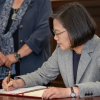 Taiwan President Tsai Ing-wen honors gay rights activist with historic pen
