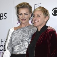 DeGeneres (right) and wife de Rossi (AP file photo)