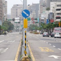 Empty streets during a Wan An air defense drill last year.