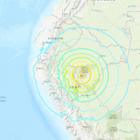 Magnitude-8 earthquake strikes north-central Peru