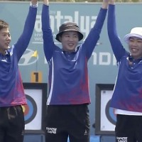 Taiwan recurve women's team win gold at Archery World Cup