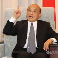蘇貞昌投書《華盛頓郵報》 籲捍衛台灣民主與人權價值