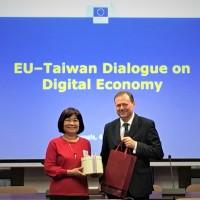 台歐盟首屆數位經濟對話比利時落幕 明年移師台北