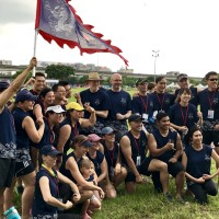 American Institute in Taiwan director at first Dragon Boat race since taking office