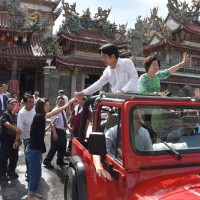 賴清德「壯大台灣」車隊遊行第2天 支持群眾力挺