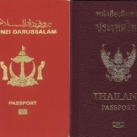 Philippines, Brunei, Thailand, and Russia passports. (Wikipedia photos)
