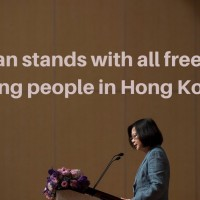 'Taiwan stands with all freedom-loving people in Hong Kong': Tsai