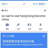 Google 翻譯遭駭? so sad翻譯成「很高興看到香港成為中國」