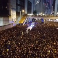 Video shows crowd of 2 million Hong Kong protesters 'parting Red Sea' for ambulance