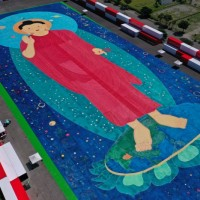 World's largest Buddha painting unveiled in eastern Taiwan