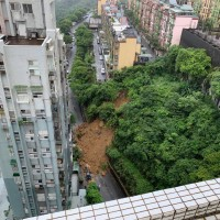 Landslide cuts off community in New Taipei City